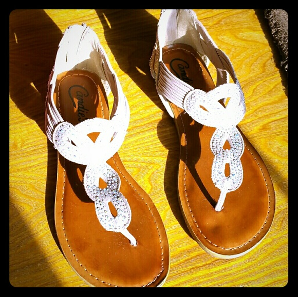5c3458a3aebf9 Candie s Shoes - Blush candies cage rhinestone sandals 7.5